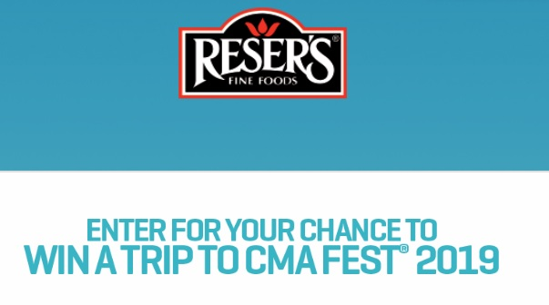 Resers CMA Fest Sweepstakes - Win Resers Prize Packs