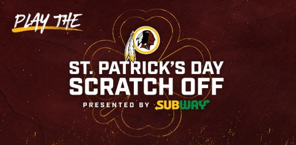 Washington Redskins Subway Scratch-Off Game