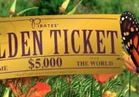 Golden Ticket Spring $5,000 Trip Contest