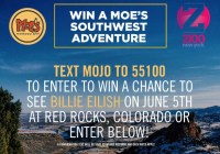 Moes Southwest Grill Text to Win Ticket Giveaway