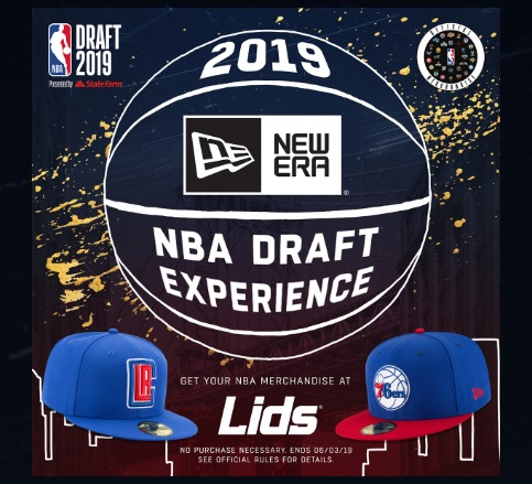 Lids 2019 NBA Draft Experience Sweepstakes