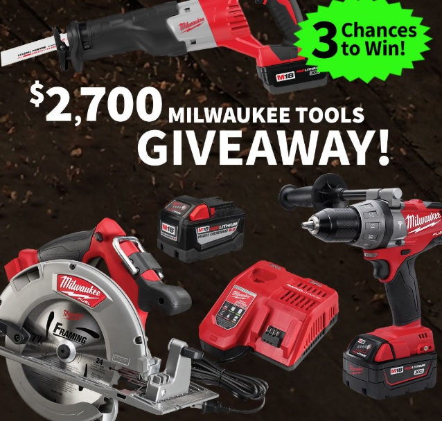 Milwaukee Tools Giveaway