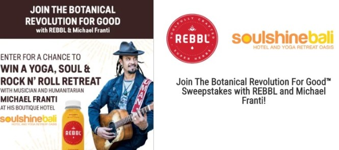 Rebbl Botanical Revolution For Good Sweepstakes