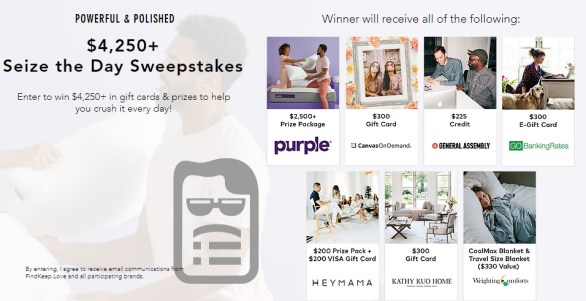 Seize The Day Sweepstakes