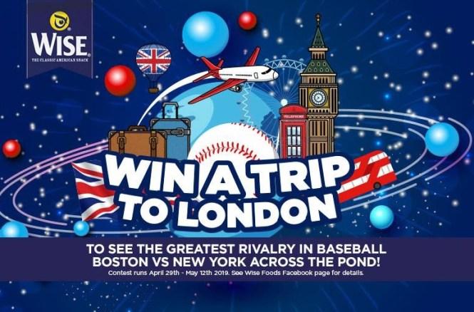 Wise Snacks London Baseball Flyaway Sweepstakes