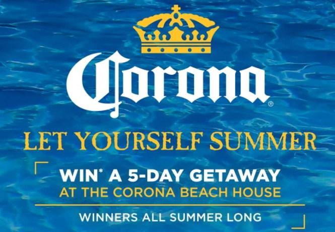 Corona 2019 Let Yourself Summer Sweepstakes
