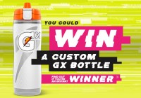 Gatorade Custom Gx Bottle Instant Win Game
