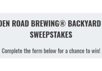 Golden Road Brewing Backyard BBQ Sweepstakes
