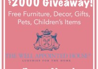 $2000 Gift Certificate Blog Giveaway