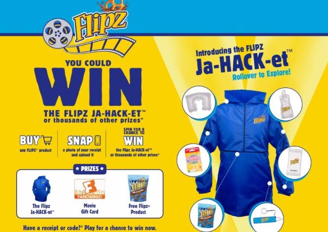 Flipz Summer Snack Hackz Instant Win Game