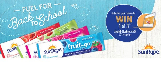 Sun Rype Fuel For School Back To School Sweepstakes