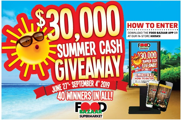 Food Bazaar 30K Summer Cash Giveaway