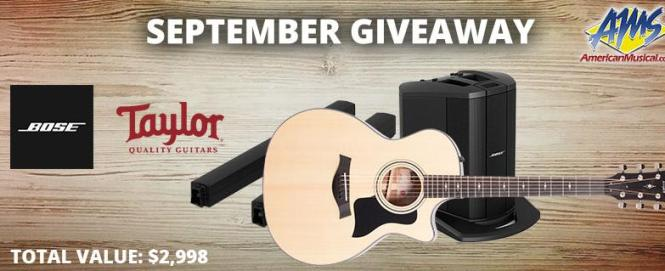 Taylor & Bose Gear Giveaway - Win Electric Guitar