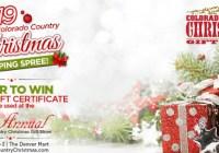 Colorado Country Christmas Shopping Spree Sweepstakes