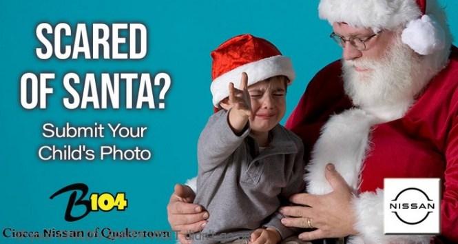 B104 Allentown Scared Of Santa Photo Contest