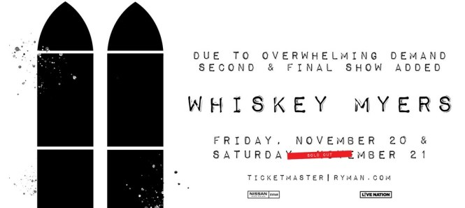 Whiskey Myers Sweepstakes