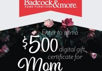 Badcock Home Furniture Mothers Day Giveaway
