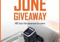 HBC Sous Vide Immersion Circulator Giveaway