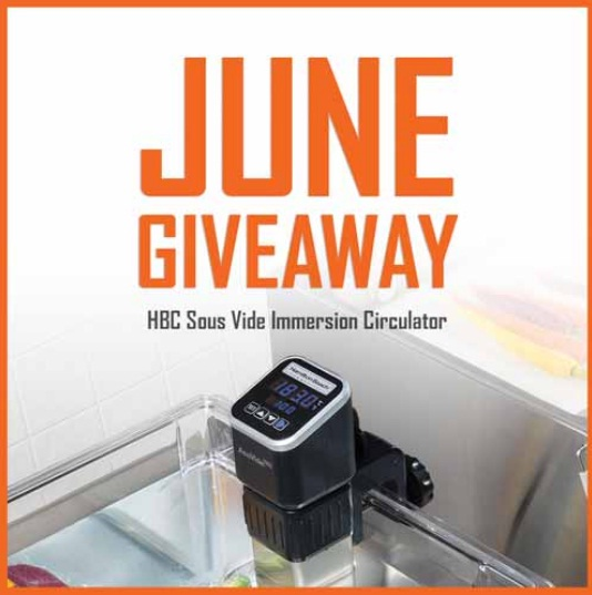 HBC Sous Vide Immersion Circulator Giveaway