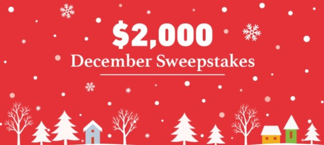 DealNews.com $2,000 December Sweepstakes