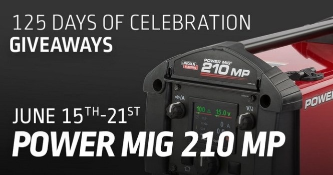Lincoln Electric POWER MIG 210 MP Giveaway