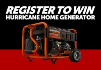 Register To Win Home Generator Contest