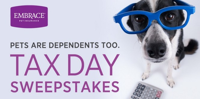 Embrace Pet Insurance Tax Day Sweepstakes