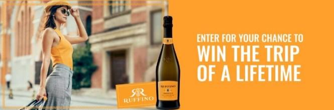 Ruffino National Trip To Anywhere Sweepstakes
