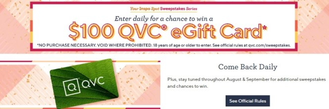 QVC Your Inspo Spot Sweepstakes