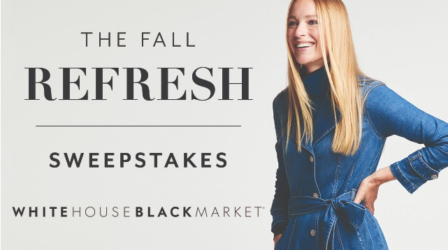HICOS FAS White House Black Market Fall Shopping Spree Sweepstakes