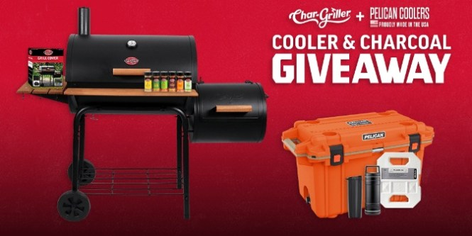A&J Manufacturing Char-Griller And Pelican Coolers Cooler And Charcoal Giveaway