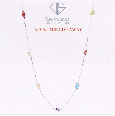 David And Son Fine Jewelry, Necklace Giveaway