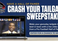 Pro Football Hall Of Fame Crash Your Tailgate Sweepstakes