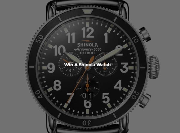 Rotary Digital Shinola Watch Giveaway