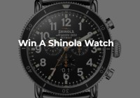 Rotary Digital Shinola Watch Sweepstakes