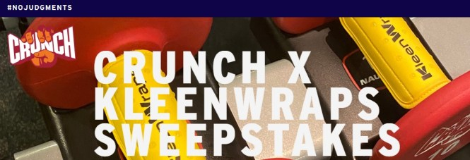 Crunch Fitness KleenWraps Sweepstakes
