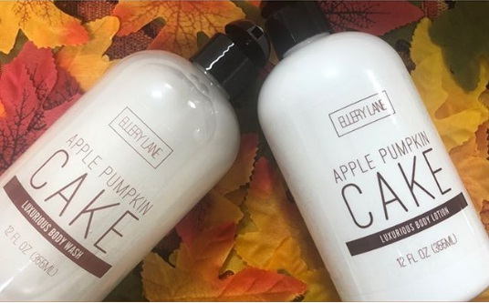 Ellery Lane, Apple Pumpkin Cake Lotion And Body Wash Giveaway