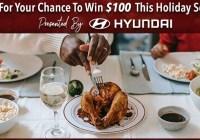 Hyundai Driving Through The Community Sweepstakes - Win $100 Dollar