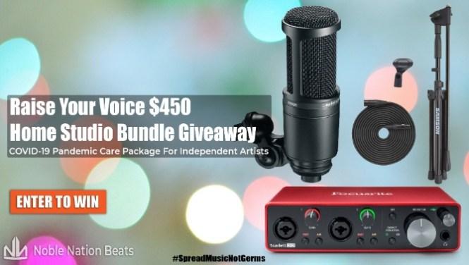 Raise Your Voice Home Studio Bundle Giveaway
