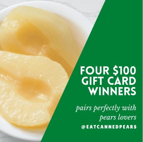 Pacific Northwest Canned Pear Service National Pear Month Giveaway