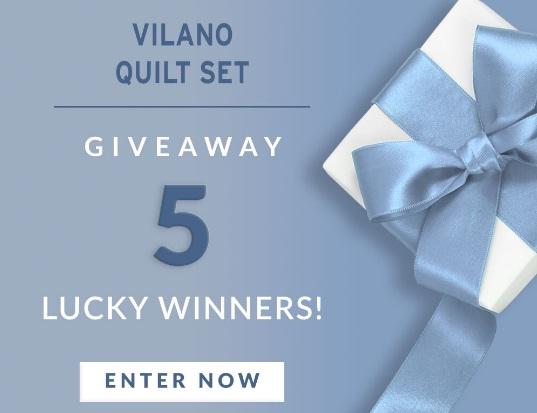 SouthShore Fine Linens Vilano Springs Oversized Quilt Set Giveaway