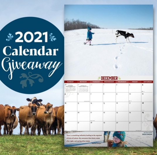 Organic Valley Calendar Giveaway