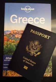 Greece Lonely Planet and Passport