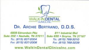 Dr Archie Bertrand DDS