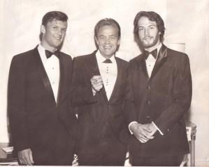Kristofferson, Eddie Miller, and Gantry at the BMI Awards dinner in New York, 1969