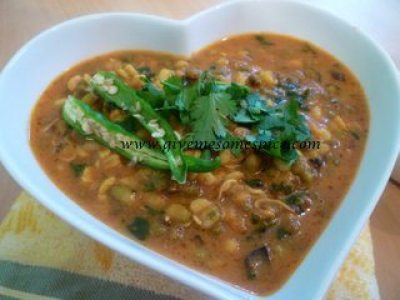 Sprouted Mung Beans Green Mung Beans Curry Authentic