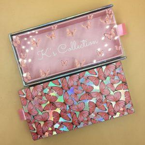 custom butterflies lash packaging