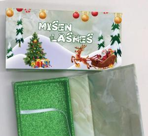 custom Christmas eyelash packaging usa