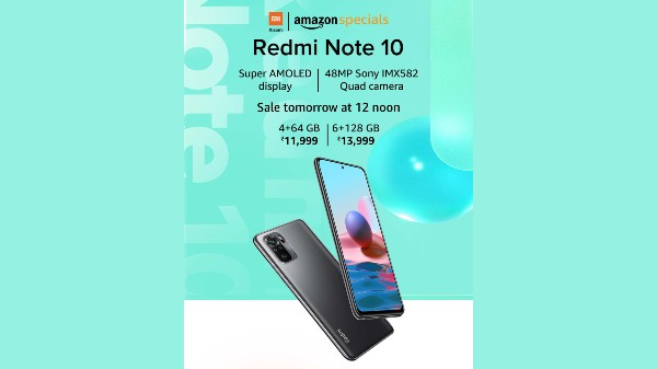 Redmi Note 10 With S AMOLED Display First Sale Tomorrow At 12 PM