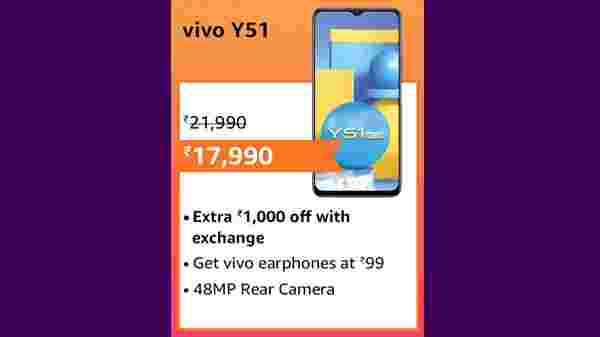 18% Off On Vivo Y51